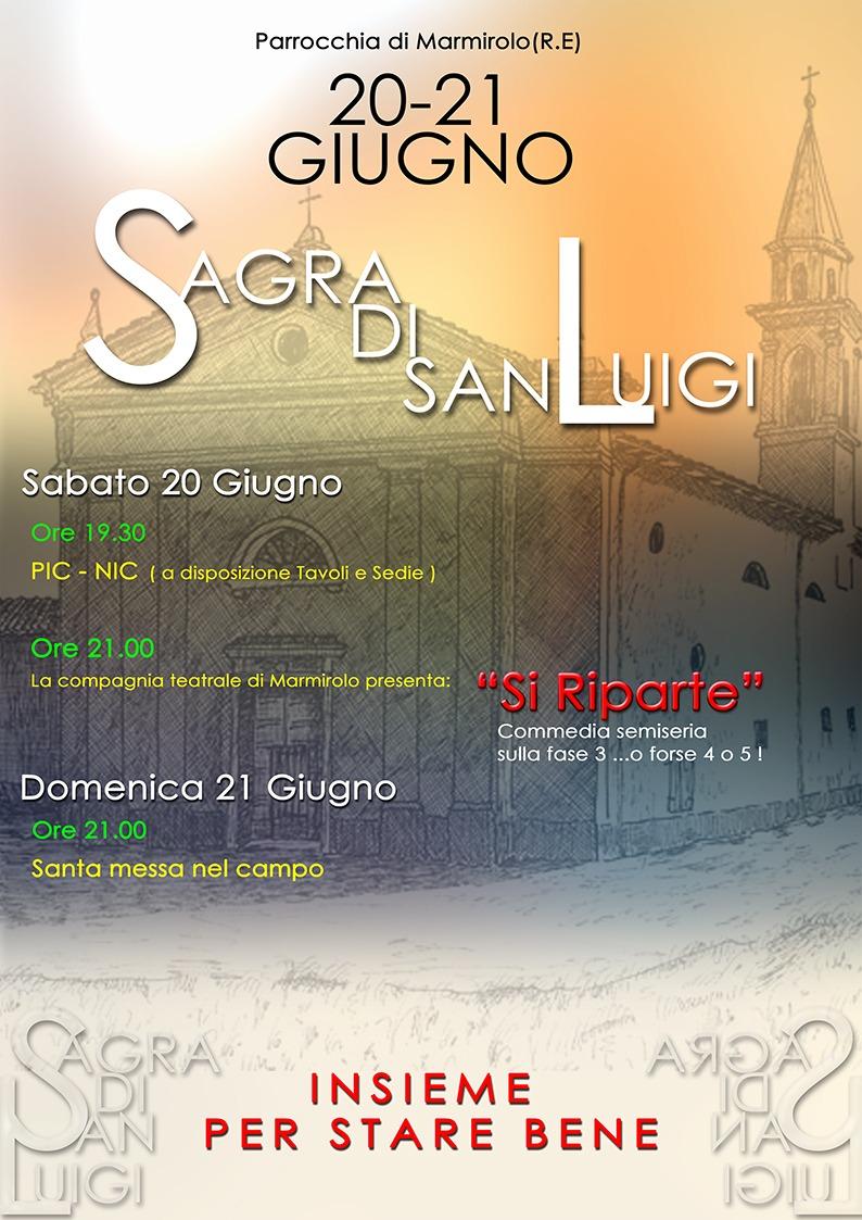 Marmirolo: sagra di san Luigi 2020