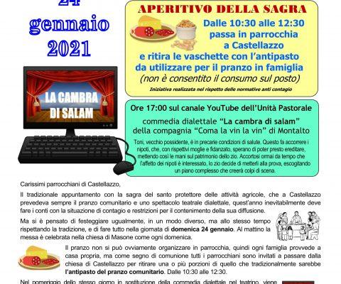 SAGRA 2021 DI SANT'ANTONIO A CASTELLAZZO