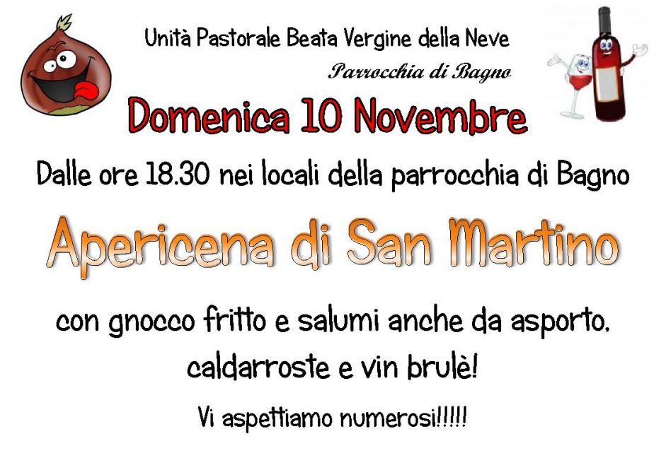 Apericena di S.Martino – 10 Novembre 2019