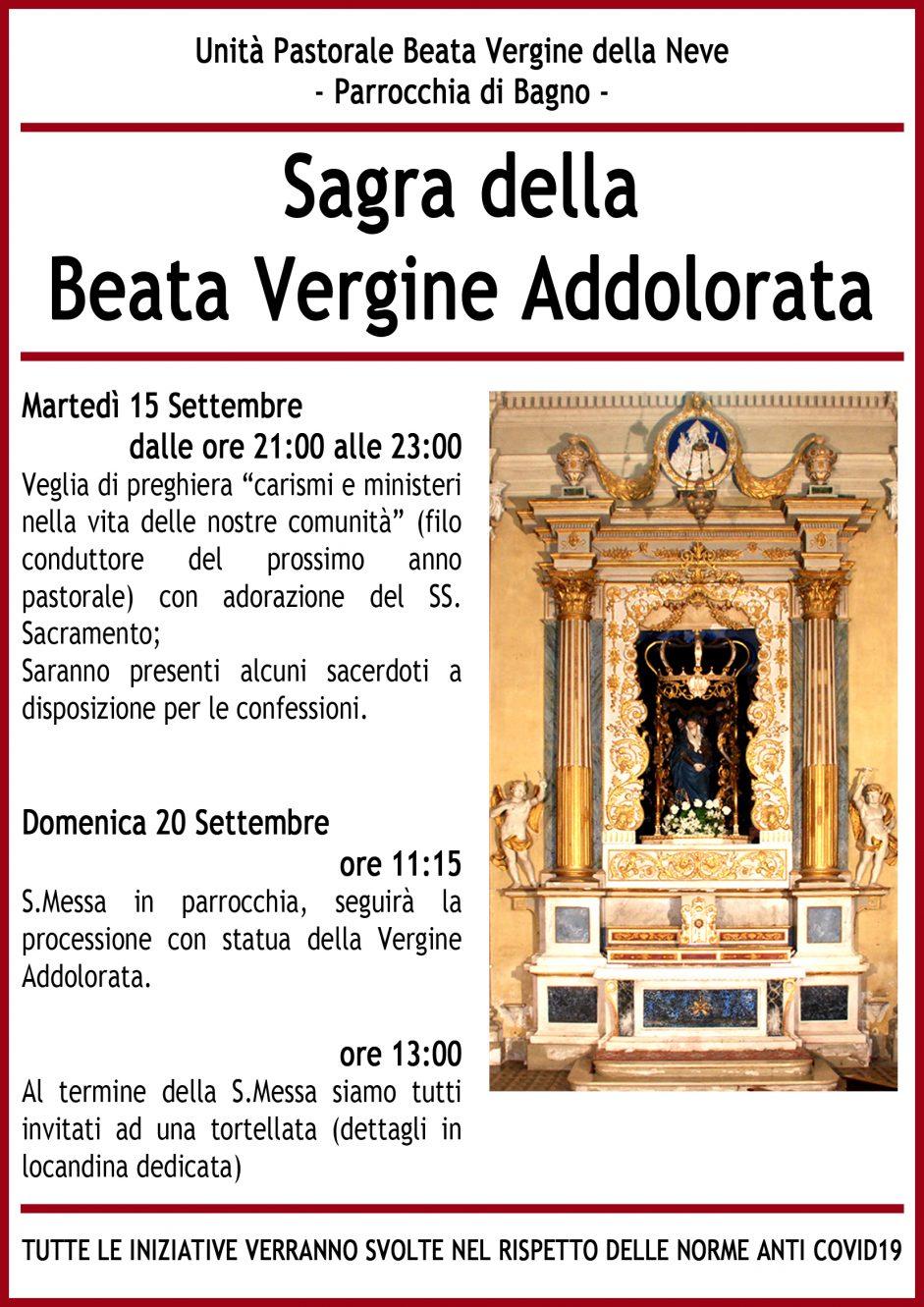 Sagra della Beata Vergine Addolorata, Bagno