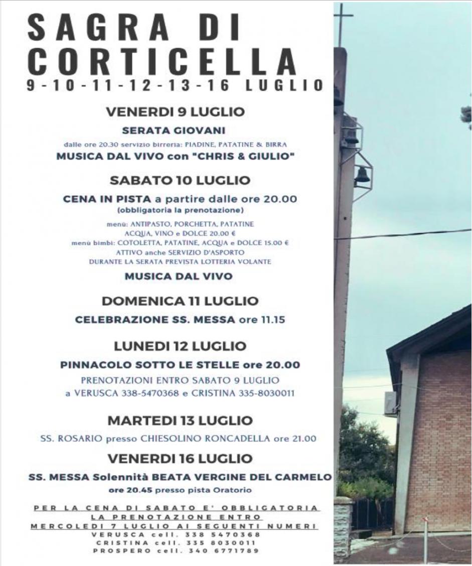 Sagra B.V. del Carmelo 2021, Corticella