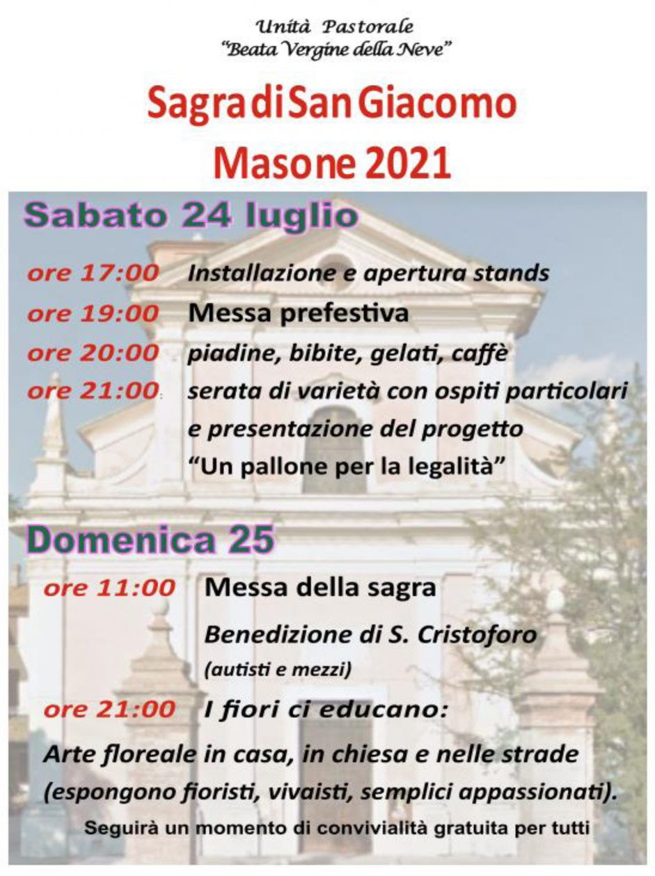 Sagra S.Giacomo, Masone 2021