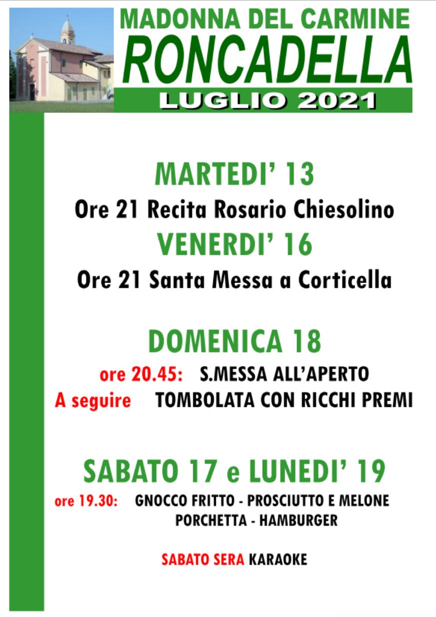 Sagra Madonna del Carmine 2021, Roncadella